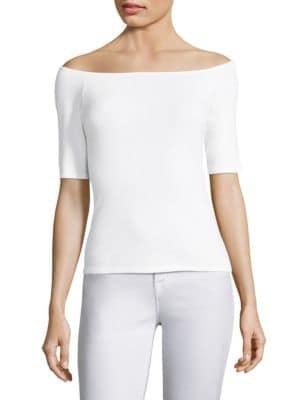 Off-The-Shoulder Cotton Top by Splendid
