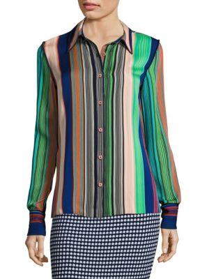 Long Sleeve Collared Shirt by Diane von Furstenberg