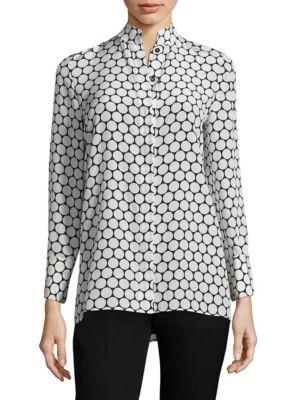 Circles Print Silk Shirt by Diane von Furstenberg