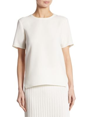 Silk-Trim Tee by DKNY