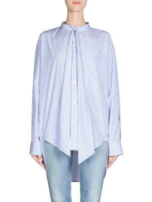 Button-Front Logo Shirt by Balenciaga