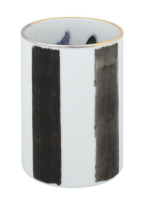 """Image of Add an artistic touch to any room with this porcelain pencil holder. Porcelain.3""""W x 4.25""""H.Imported."""