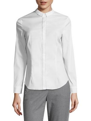 Long-Sleeve Button-Down Polo by Peserico