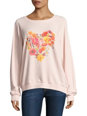 Blooming Heart Sweatshirt by Wildfox