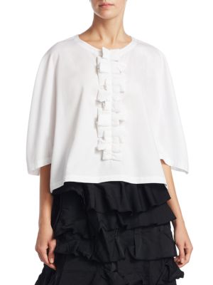 Cotton Ruffle Top by Comme des Garcons