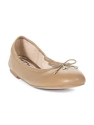 7a3625c6a3d78 Sam Edelman - Felicia Metallic Leather Ballet Flat - saks.com