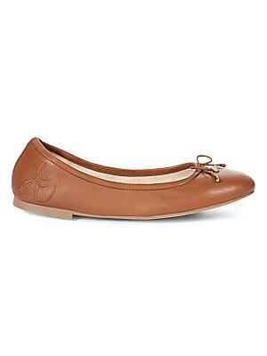 e4d7aac41f79 Tory Burch - Minnie Travel Leather Ballet Flats - saks.com