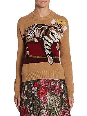 e4aa4728b8c907 Dolce & Gabbana - Intarsia Cat-Print Knit Sweater - saks.com