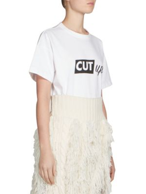 Cut Up Graphic Tee by Sacai
