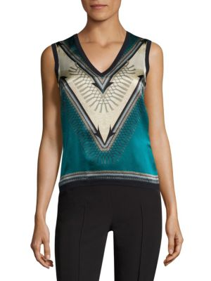 Wool & Silk Shell Top by Versace Collection