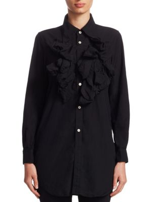 Button-Front Ruffle Tunic by Comme des Garcons