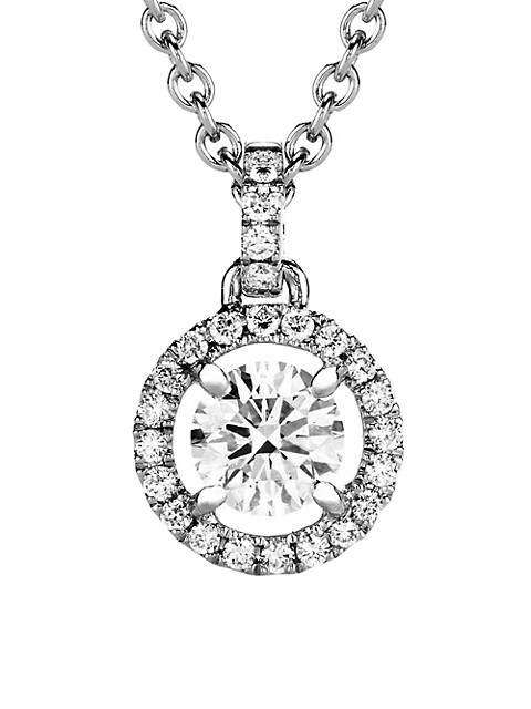 My First De Beers Aura 18K White Gold & Diamond Pendant