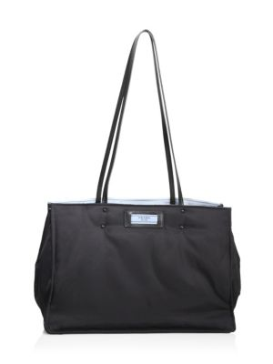 Tessuto Large Double Shoulder Tote Bag, Black