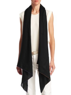 LORO PIANA Aria Crystal-Embellished Soffio Stole in Black