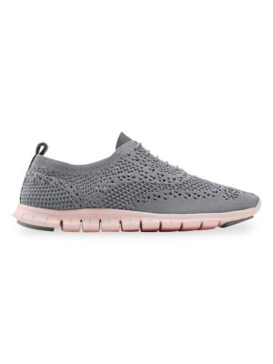 Women'S Zerogrand Stitchlite Knit Lace-Up Oxford Sneakers, Ironstone Fabric