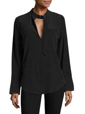Janelle Buckle Silk Top by Equipment