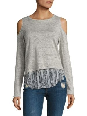 Talia Cold-Shoulder Long Sleeve Top by Generation Love