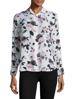 Leema Silk Floral Blouse by Equipment