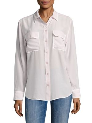 Point Collar Blouse by Equipment