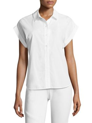 Poplin Dolman Cotton Button-Down Shirt by Vineyard Vines