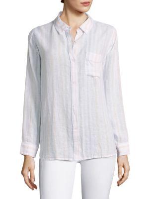 Charli Stripe Casual Button Down Shirt by Rails
