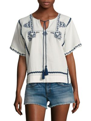 Marini Embroidered Top by Ella Moss