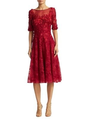 Three-Quarter Sleeve Cocktail Dress