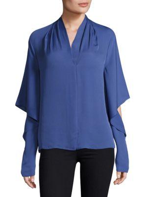 Edyn Cascading Sleeve Blouse by KOBI HALPERIN