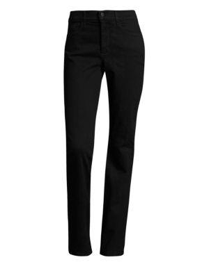 NYDJ Marilyn Tummy-Control Straight-Leg Pants in Black