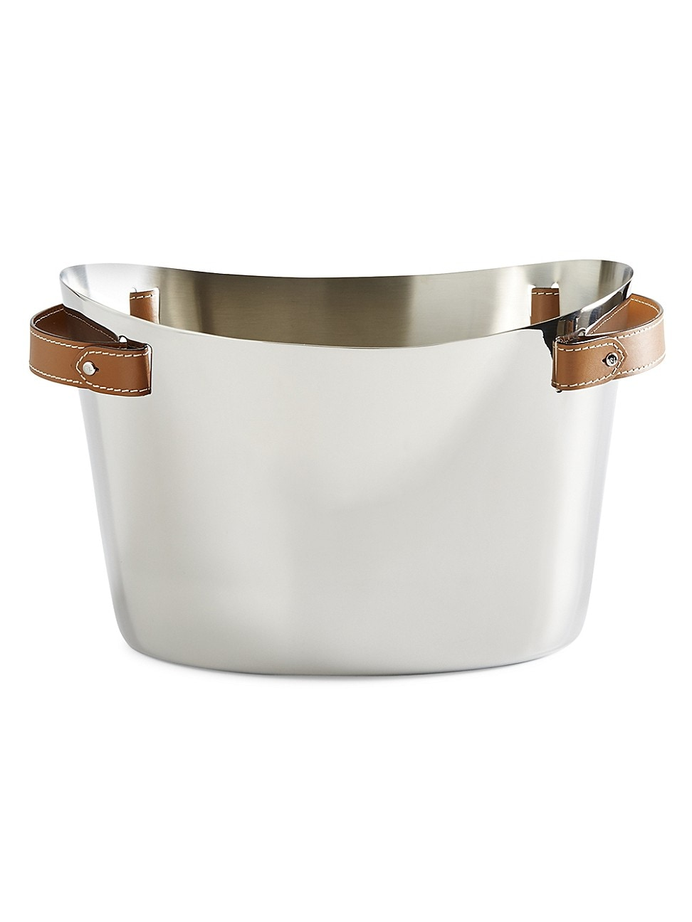 Ralph Lauren Wyatt Stainless Steel Double Champagne Cooler In Silver