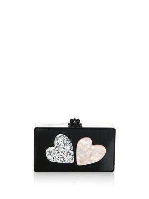 Edie Parker  Jean Double Heart Box Clutch