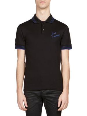 Image of Regular-Fit Brand Logo-Print Polo