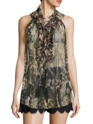 Curacao Palm Rumba Top by Zimmermann