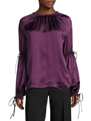 Silk Ruched Blouse by Aquilano Rimondi