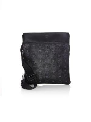 MCM Ottomar Visetos Faux Leather Crossbody Bag - Black