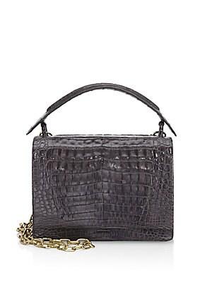 94e637da74 Saint Laurent. Large Collège Matelassé Leather Bag.  2590.00 · Nancy  Gonzalez - Square Top Handle Bag