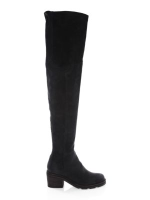 LD TUTTLE The Stack Leather Over-The-Knee Boots in Black