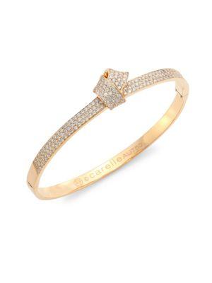 CARELLE Knot Diamond & 18K Rose Gold Bangle