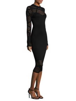 Buy MILLY Fractured Pointelle Bodycon Fitted Dress online with Australia wide shipping