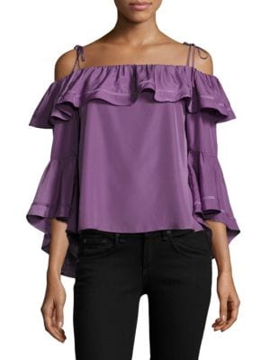 Lynn Ruffled Off-The-Shoulder Top by LIKELY