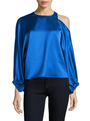 Celestia Cold Shoulder Top by Tibi