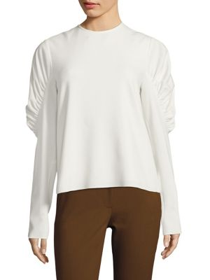 Viscose Twill Florence Top by Tibi