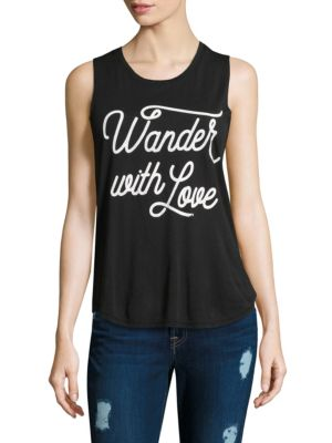 Wander with Love Muscle Tank Top by Spiritual Gangster