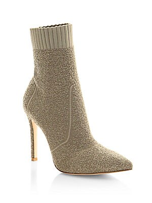 f0eceaa2fe21 Gianvito Rossi - Knit Boucle Sock Booties - saks.com