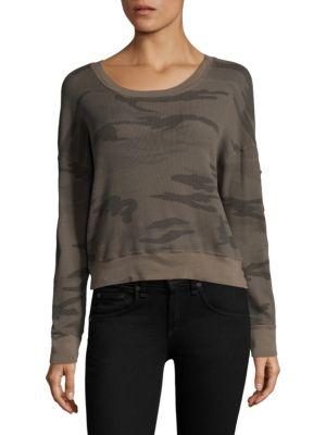 Wedge Camouflage Crop Sweatshirt by Splendid