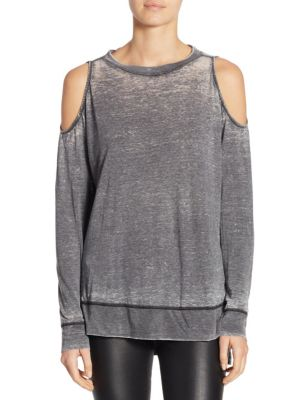 Landon Cold Shoulder Pullover by Alice + Olivia