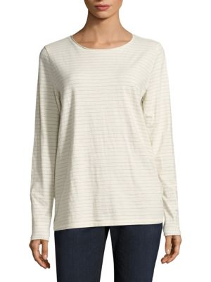 Cotton Striped Top by Eileen Fisher