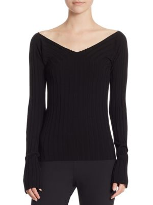 Wide-V Rib Top by Theory