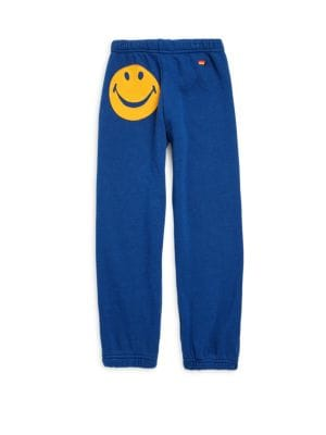 Image of Cotton-blend sweatpants featuring patch detail. Elasticized waist and leg openings. Cotton/polyester/rayon. Machine wash. Made in USA.