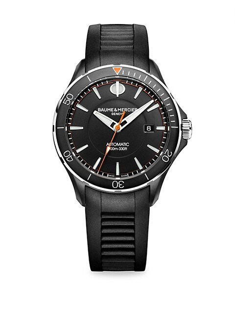 Clifton Club Stainless Steel & Rubber Strap Watch